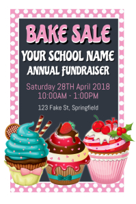 Bake Sale Poster template