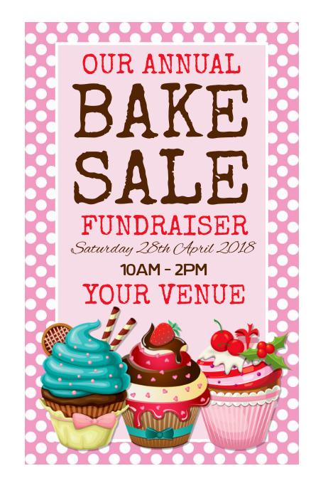 Bake Sale Poster Plakat template