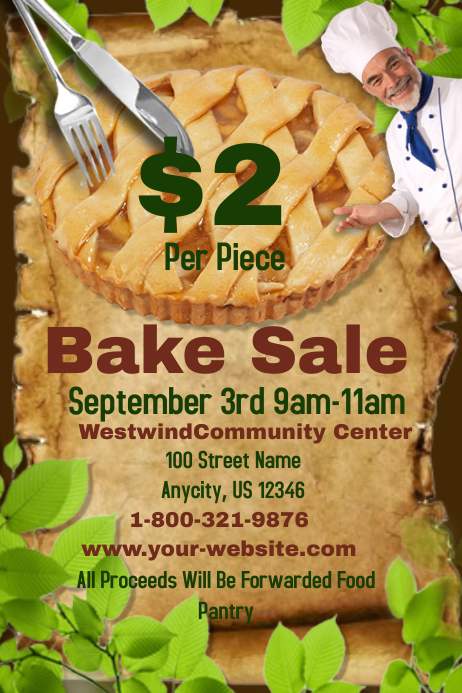 Bake Sale Template 海报