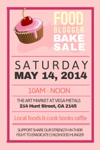 bake sale fundraiser flyer customizable design templates for bake sale postermywall