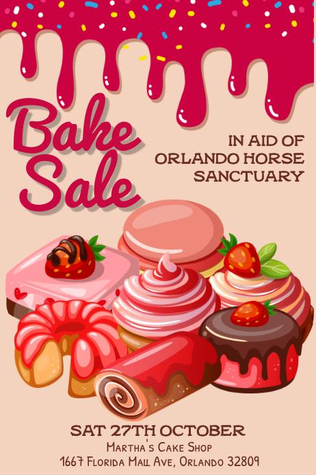 Bake Sale Poster Template Cartaz