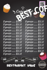 Bake sale poster with blackboard background - Great for bakery and restaurant