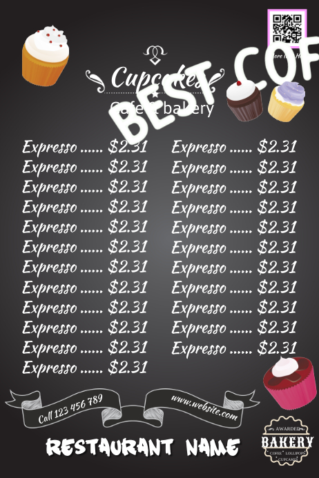 Bake Sale Poster With Blackboard Background Great For