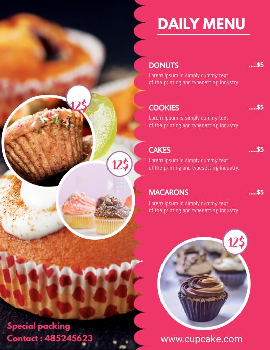 Bake Sale Price List Template