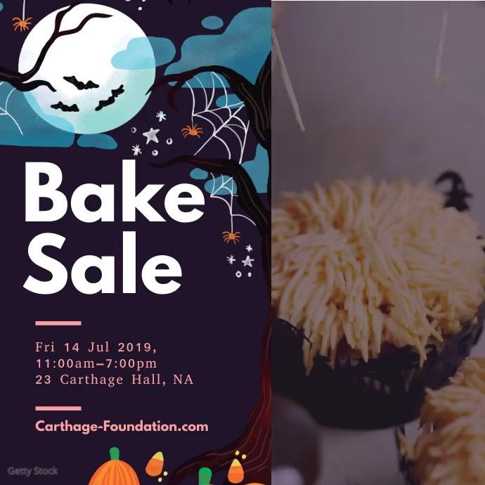 Bake Sale Retail Ad for Halloween Quadrato (1:1) template