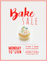Bake Sale Sprinkles Flyer (US Letter) template