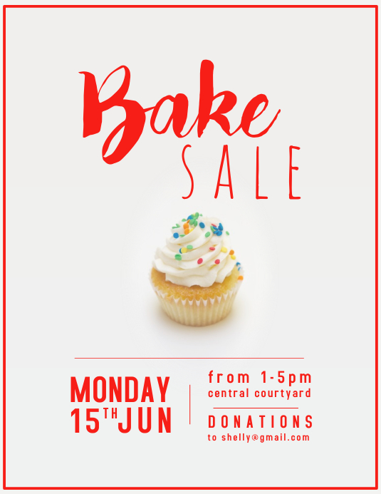 Bake Sale Sprinkles ใบปลิว (US Letter) template