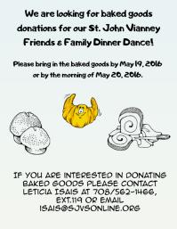 baked goods donation flyer