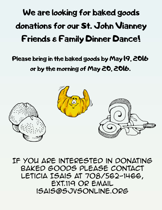 Baked Goods Donation Flyer. Customize Template  Donation Flyer Template