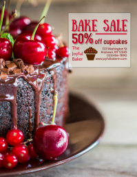 Bakery Bake Sale Valentine's Day Flyer