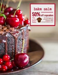 Bakery Cake Shop Bake Sale Flyer