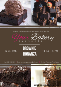 Bakery Brownie ad Flyer Template A4