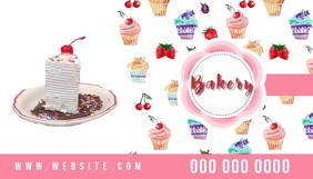 bakery business card logo social media online