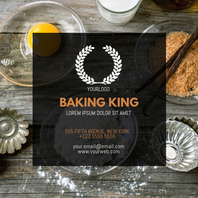 Bakery Business Card Template instagram