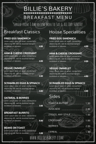 Bakery Cafe Menu Template