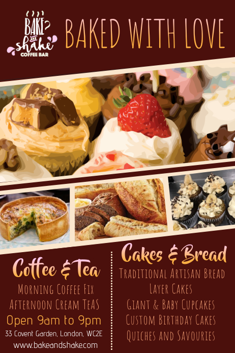 Bakery Flyer Template Postermywall