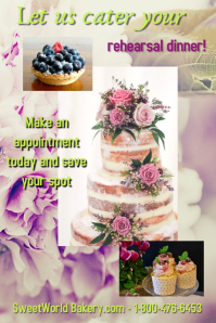 bakery/cake shop/pastry/catering/event plan