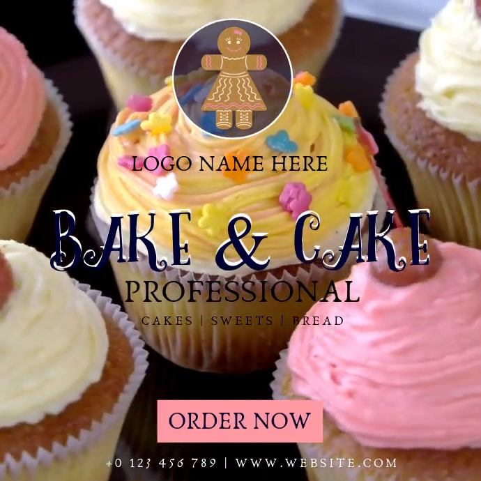 BAKERY CAKES instagram post ad template 方形(1:1)
