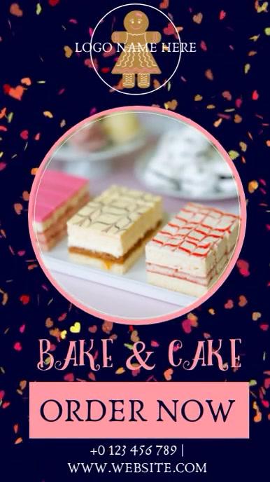 BAKERY CAKES instagram post ad template Instagram-verhaal