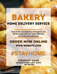 Bakery delivery service design template
