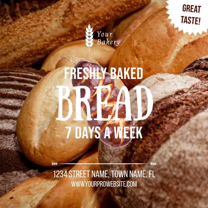 Bakery Instagram-opslag template