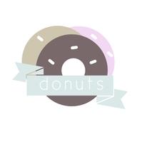 Bakery Donut Logo Design Logotyp template