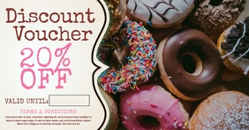 Bakery Donut Promo Poster Template