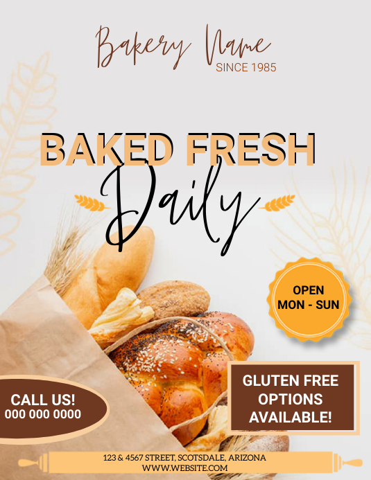 Bakery Flyer Ad BUSINESS DESIGN Template
