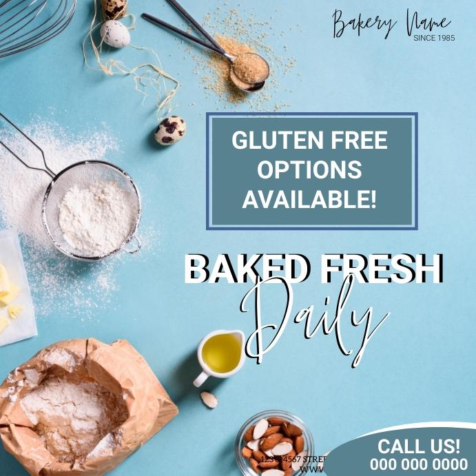 Bakery Flyer Ad INSTAGRAM Template Instagram-opslag