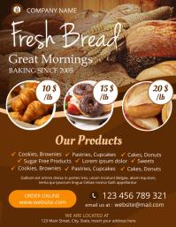 bakery flyer advertisement template design