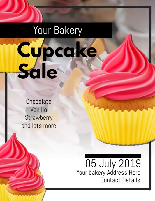 Bakery Flyer DIGITAL VIDEO TEMPLATE DESIGN Løbeseddel (US Letter)