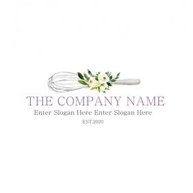 Bakery formal floral logo tj Логотип template