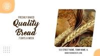 Bakery Fresh Bread Affichage numérique (16:9) template