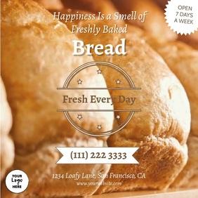Bakery Fresh Bread Quadrado (1:1) template