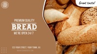 Bakery Fresh Bread Video Ad Digitalanzeige (16:9) template