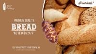 Bakery Fresh Bread Video Ad Pantalla Digital (16:9) template