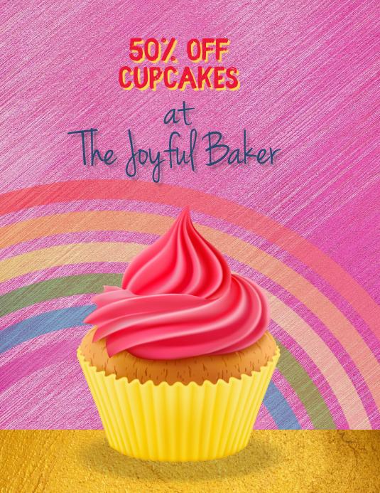 Bakery Fundraiser Cupcake Sale Flyer Template