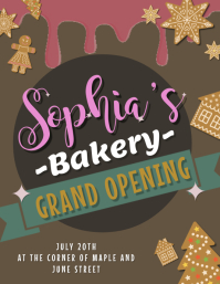 Bakery Grand Opening Flyer