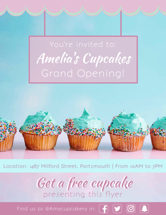 bakery grand opening flyer templates postermywall