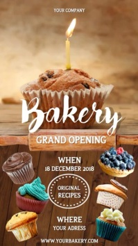 Bakery Grand Opening Portrait Video