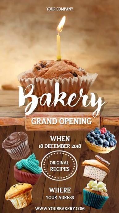 Bakery Grand Opening Portrait Video