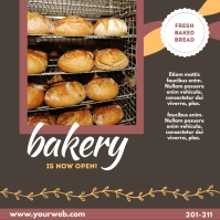 Bakery is Now Open Wpis na Instagrama template