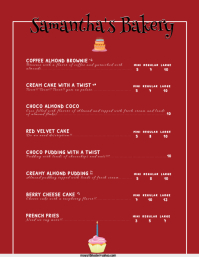 Customizable design templates for bakery menu postermywall bakery menu thecheapjerseys Images