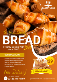 Bakery/Pastry/Bread Flyer A4 template
