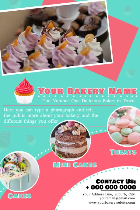 Bakery Shop Ad Poster template