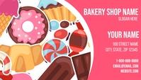 Bakery Business Card Визитная карточка template