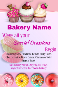 Customizable Design Templates For Bakery PosterMyWall - Bakery brochure template