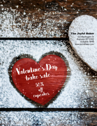 Bakery valentine's Day Sale Flyer template