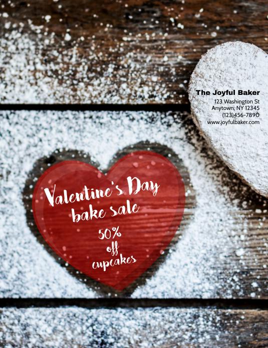 Bakery valentine's Day Sale Flyer 传单(美国信函) template