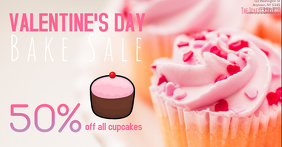 Bakery Valentines Day Sales event Facebook shared Photo template